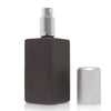 Tall Square matt black glass atomizer image 2