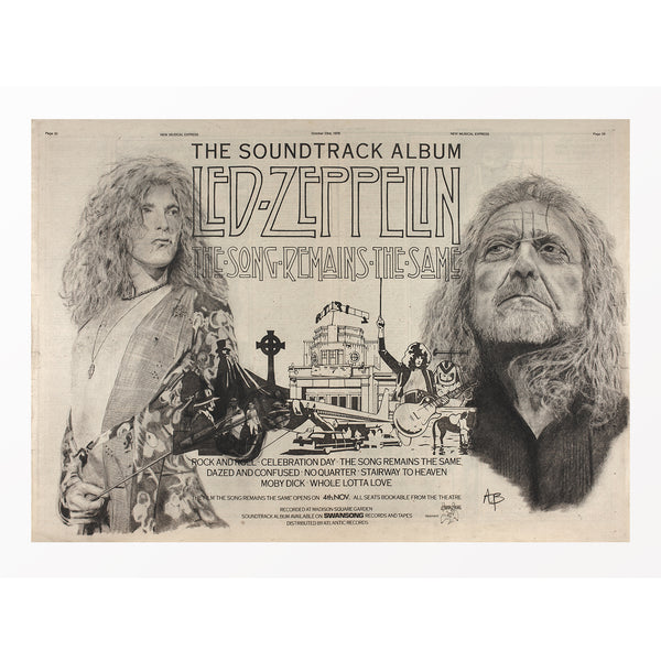 Led Zepplin - Robert Plant Commissioned Original