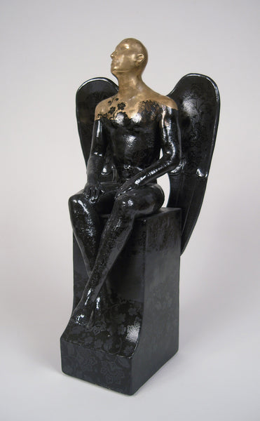 Seated Black Angel