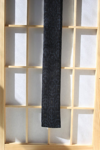 Black and Blue Pattern Necktie