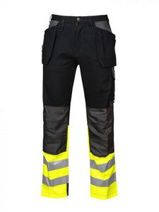 PROJOB Full Weight Multi Pocket Pants, Hi Vis Bottom