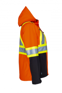 PROJOB Womens Hi Vis 3 Layer Insulated Softshell Jacket