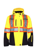 Load image into Gallery viewer, PROJOB Womens' Hi Vis Softshell Jacket