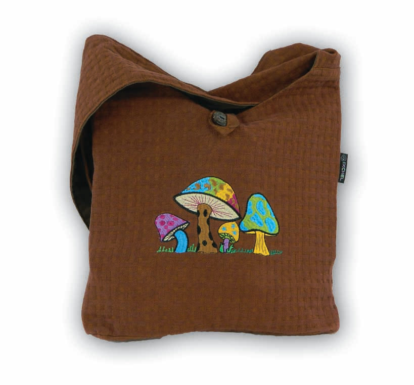 Erica bag in corduroy with mushroom embroidery