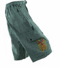 Garment Dyed Cargo Shorts with Mayan Two Headed Eagle
