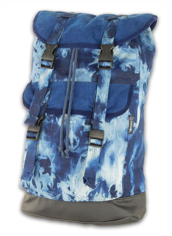 Big Field Bag in Tie Dye with corduroy trim