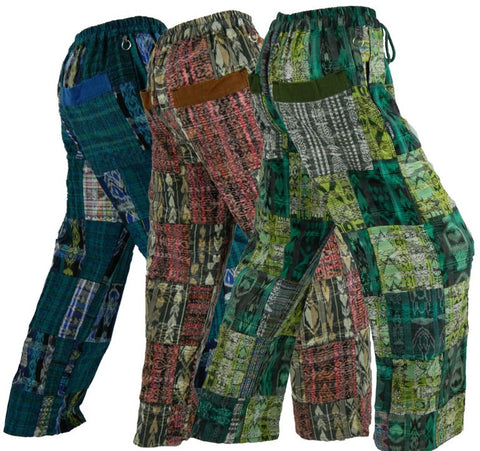 Patchwork Pants in hand woven cotton