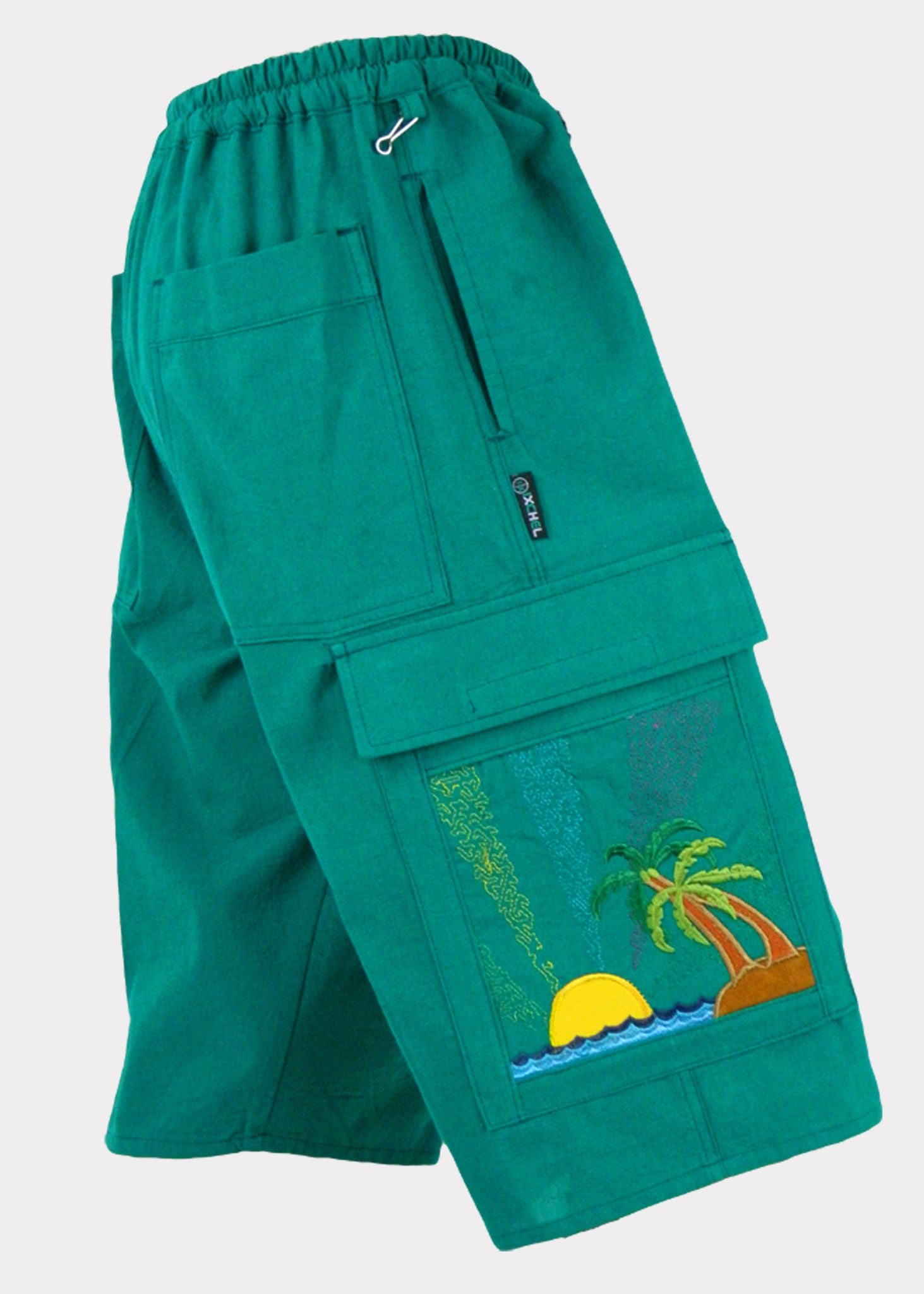 Tropical Paradise Cotton Cargo Shorts