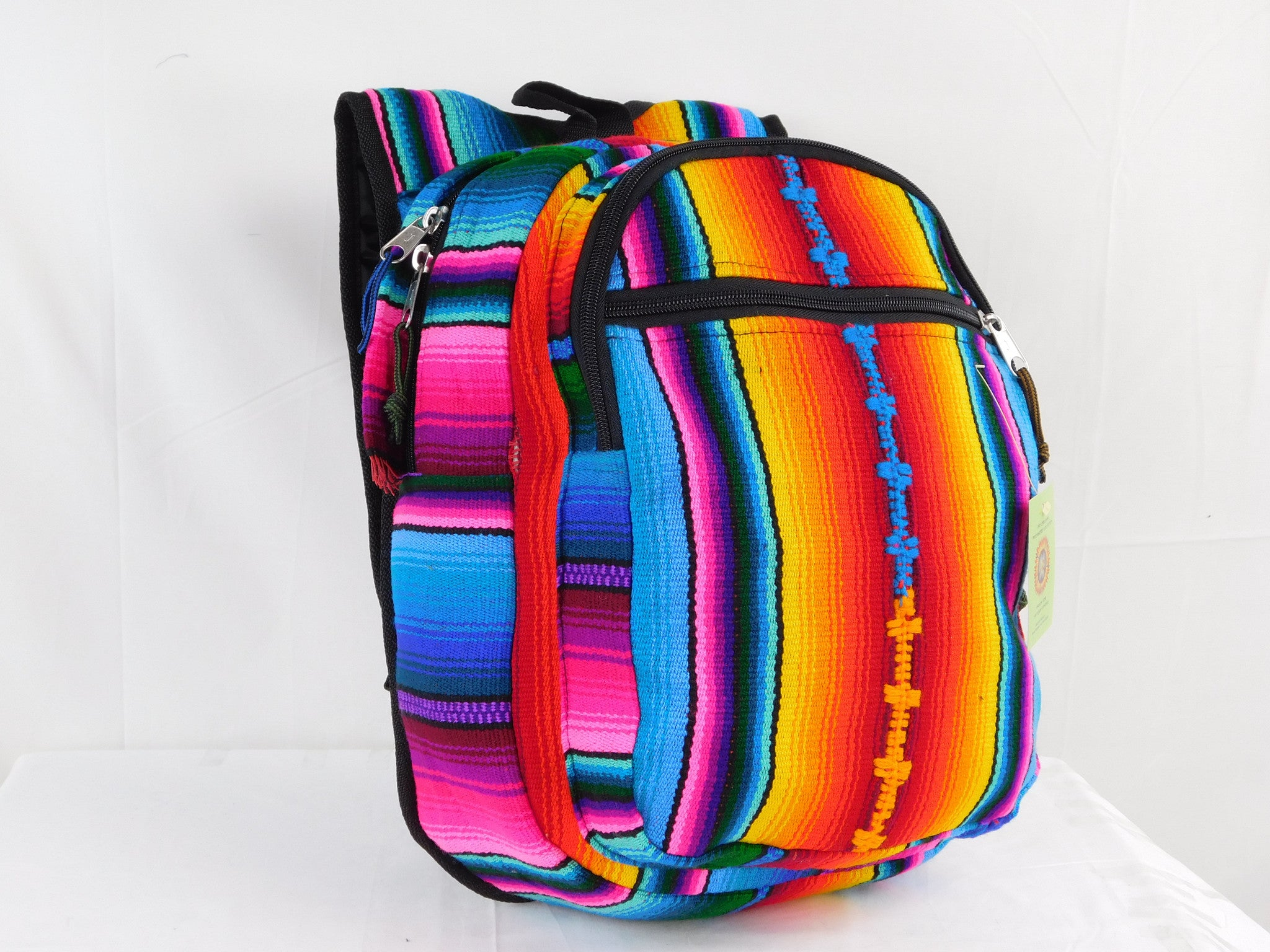 Hand woven plush backpack