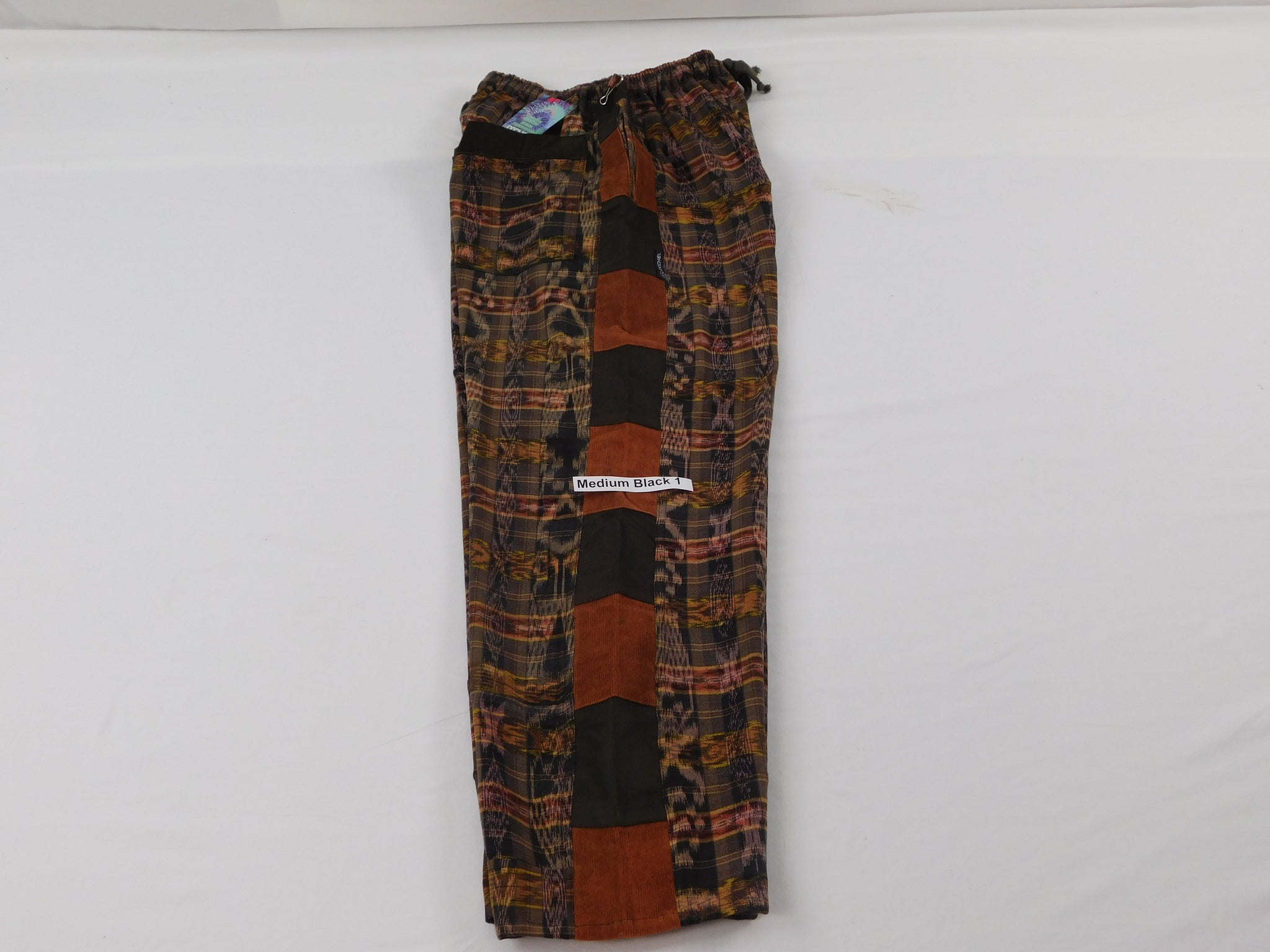 Patchwork Pants in hand woven cotton NEW