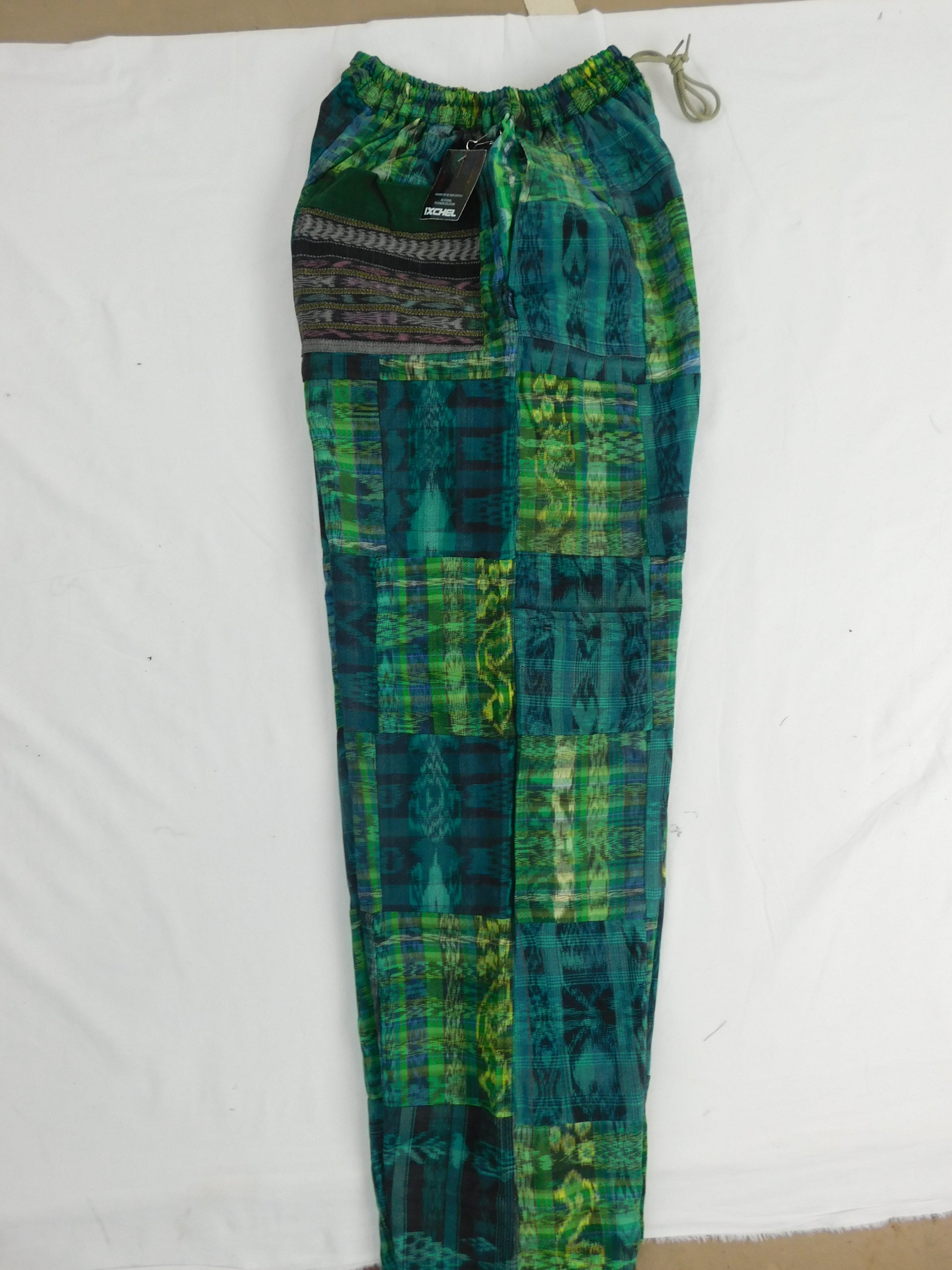 Hand Woven  Patchwork Snowboard Pants with Fleece Lining