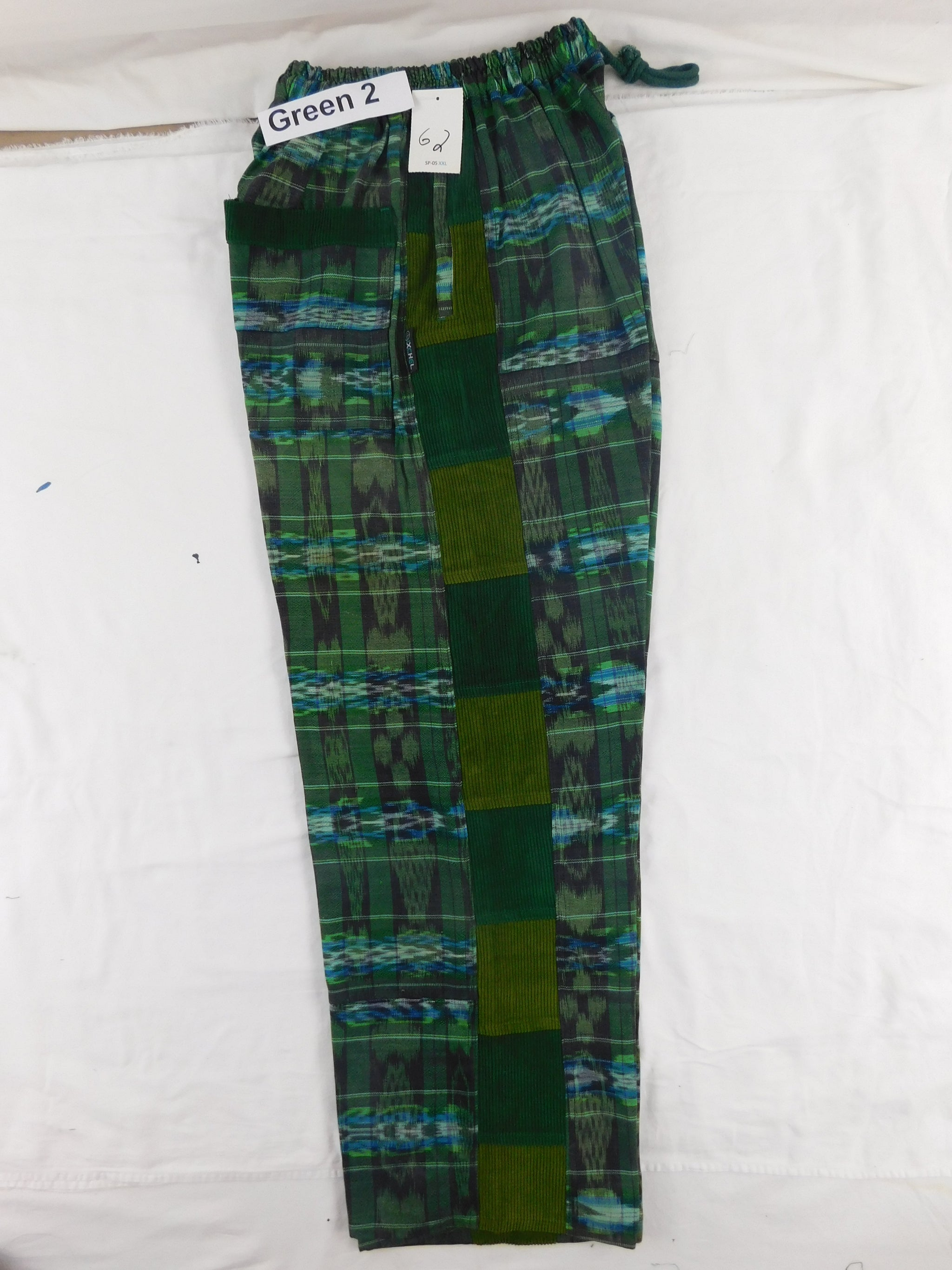 Hand woven Patchwork Pants with corduroy accents