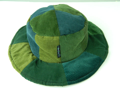 Patchwork Floppy Hat in Corduroy