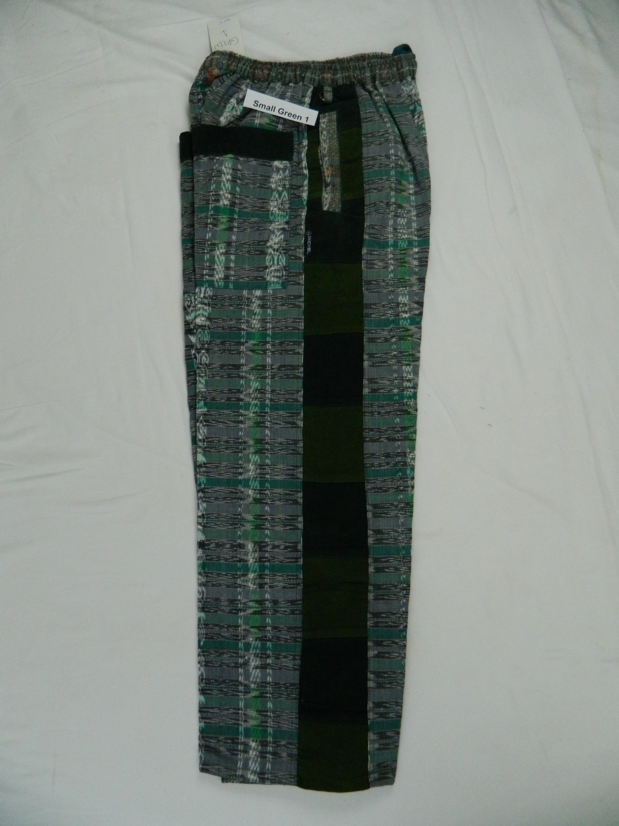Hand woven Patchwork Pants with Corduroy patches