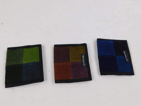 2-Fold Patchwork Corduroy Wallet