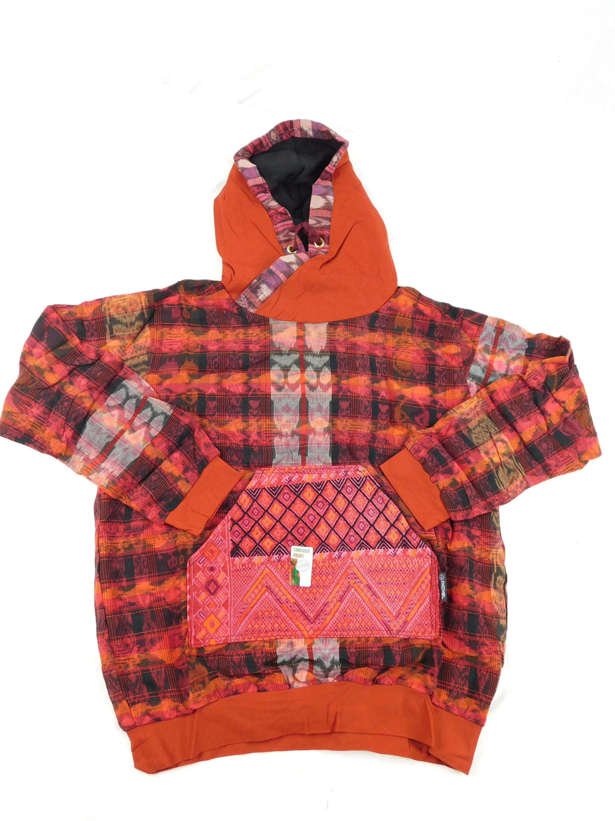 Hand woven cotton hoodie street