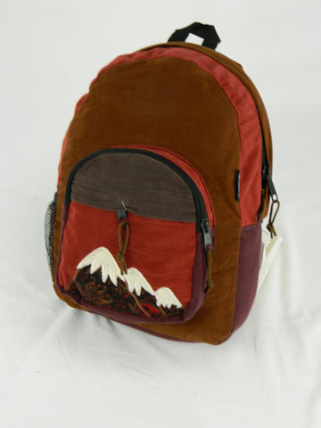 Patchwork Backpack with Mountain Applique (Medium)