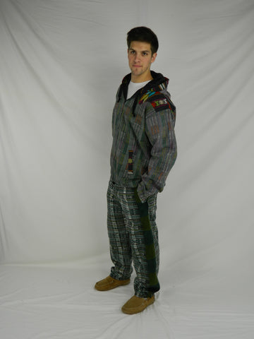 Hand Woven Snowboard Patchwork Pants