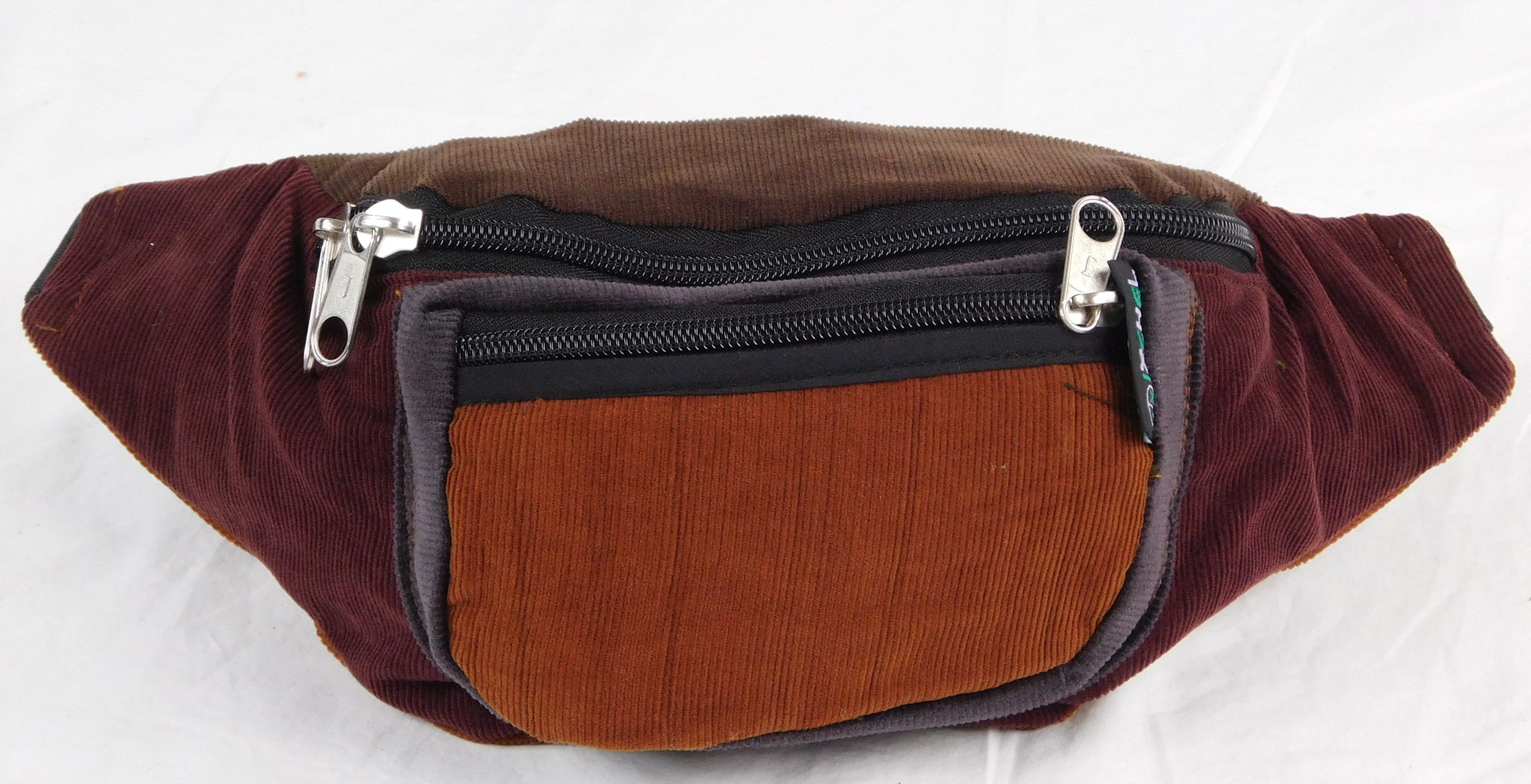 Extra large 3 pocket waist pack in corduroy