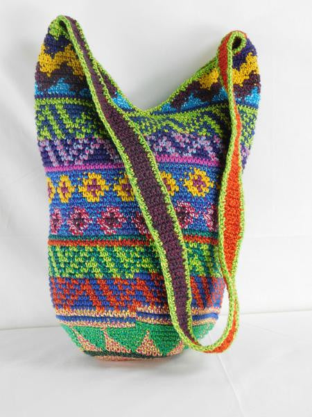 Highland  hand crocheted shoulder bag