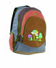 Super Daypack in basket weave cotton with mushroom embroidery