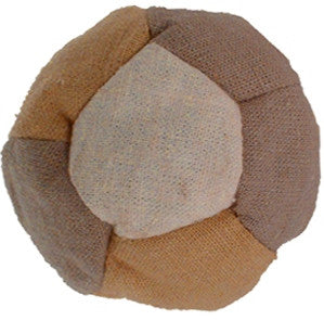 patchwork hemp footbag