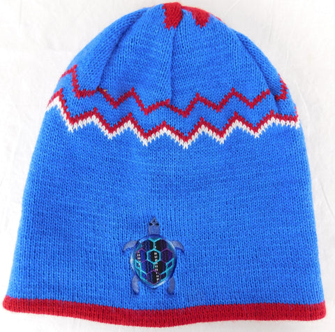 Knit Festival Cap with Terrapin Embroidery & Applique