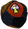Mushroom embroidered corduroy patchwork footbag.