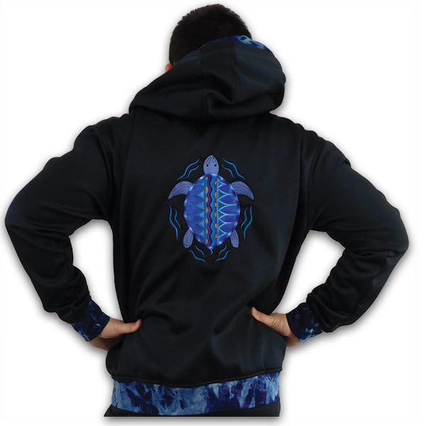 Tie Dyed Hoodie with Terrapin Embroidery