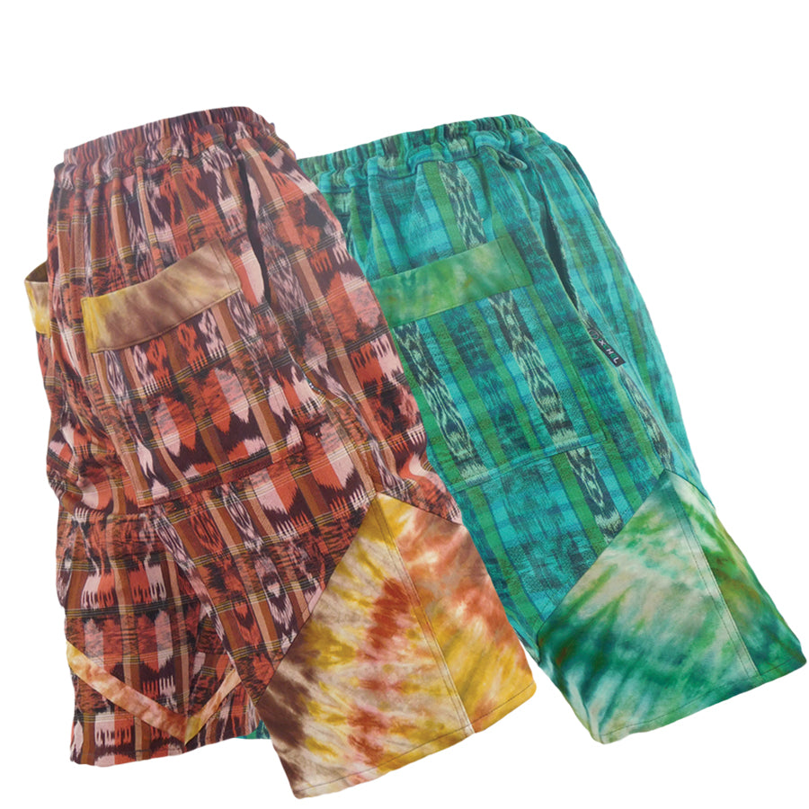 Hand Woven shorts with Tie Dyed trim