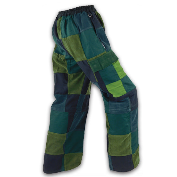 Zip Off Cargo Patchwork Pants