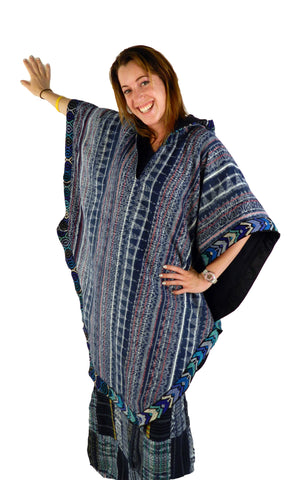 Hand-Woven Hooded Poncho