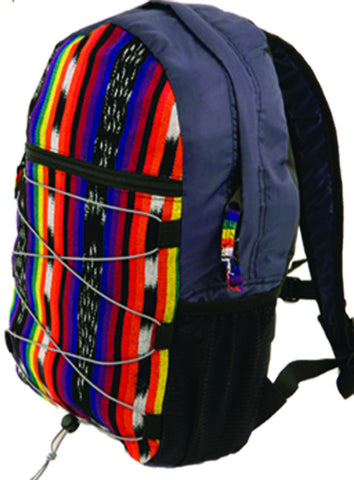 Hand-Woven Ikat Backpack (Medium)
