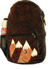Nylon and Corduroy Backpack with Mountain Applique (Medium)
