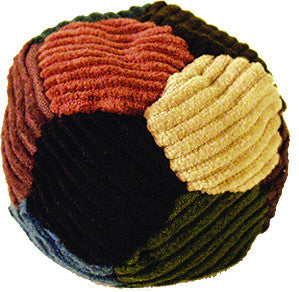 12-Panel Corduroy Patchwork Footbag