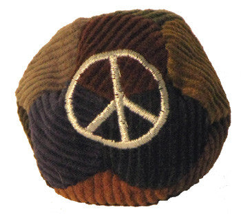 Peace Sign Corduroy Patchwork Footbag