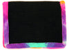2-Fold Black Corduroy Wallet with Tie-Dyed Trim