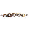 Mixed Metal Link Chain Bracelet