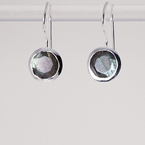 Lotus Seed Earring with Labradorite stone