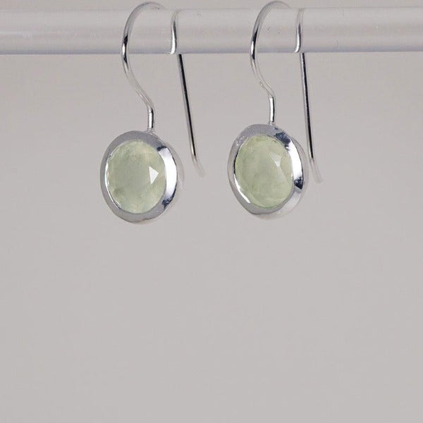 Lotus Seed Earring with Prehnite stone