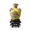 Replica Vase with Coiled Dragons and Peony Design
