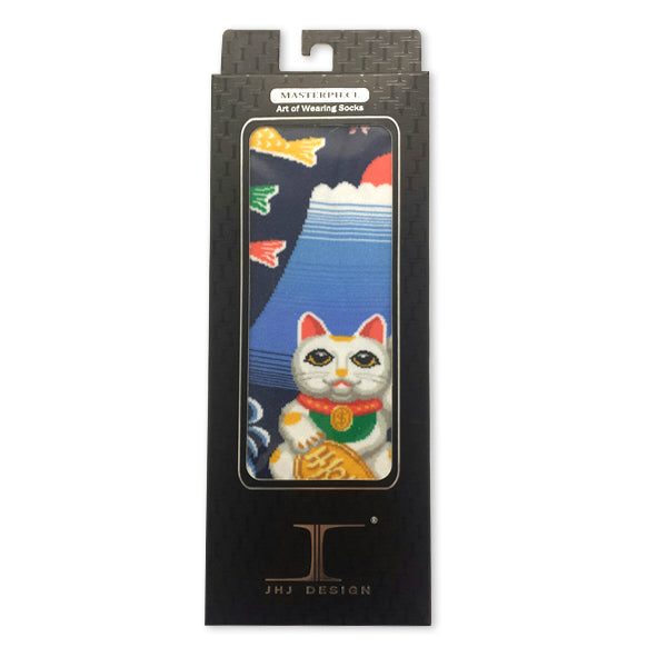 Fortune Cat Art Socks
