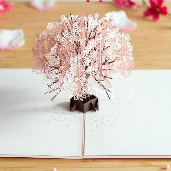 Pop Up Cherry Blossom Card