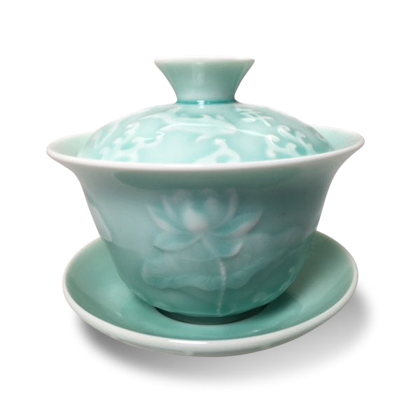 Gaiwan with Carp and Lotus