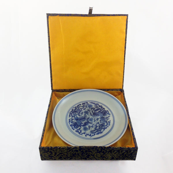 Blue & White Double Phoenix Chinese Porcelain Plate