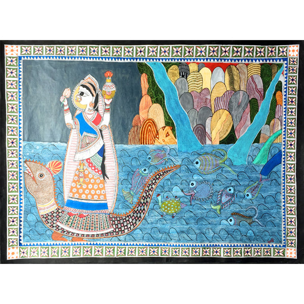 Ganges Rising From Mountain Streams - Print