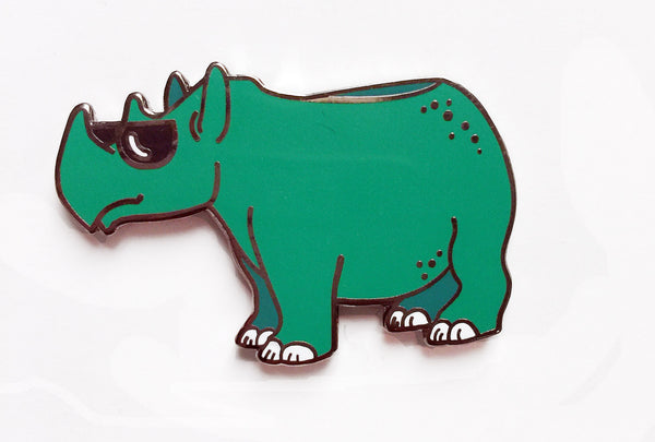 Reina the Rhino Enamel Pin