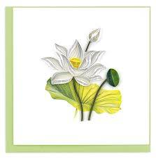 White Lotus Quilled Card