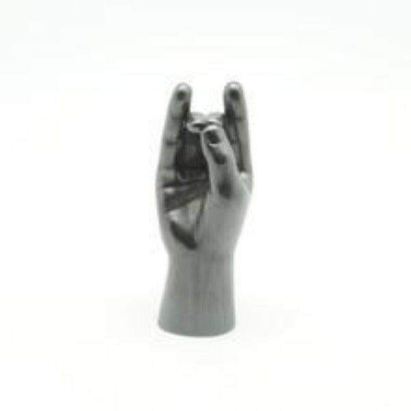 Small Hand Apana Graphite Sculpture