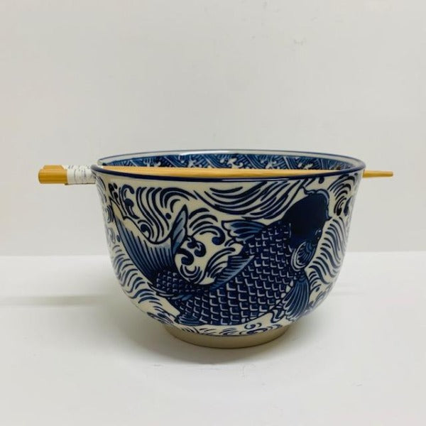 KOI BOWL WITH CHOPSTICKS